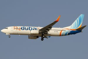 A FlyDubai Boeing 737-800 identical to the aircraft that crashed Saturday March 19th 2016 while attempting to land in Rostov-On-Don during bad weather. All 62 on board were killed. (wikipedia picture Konstantin von Wedelstaedt)