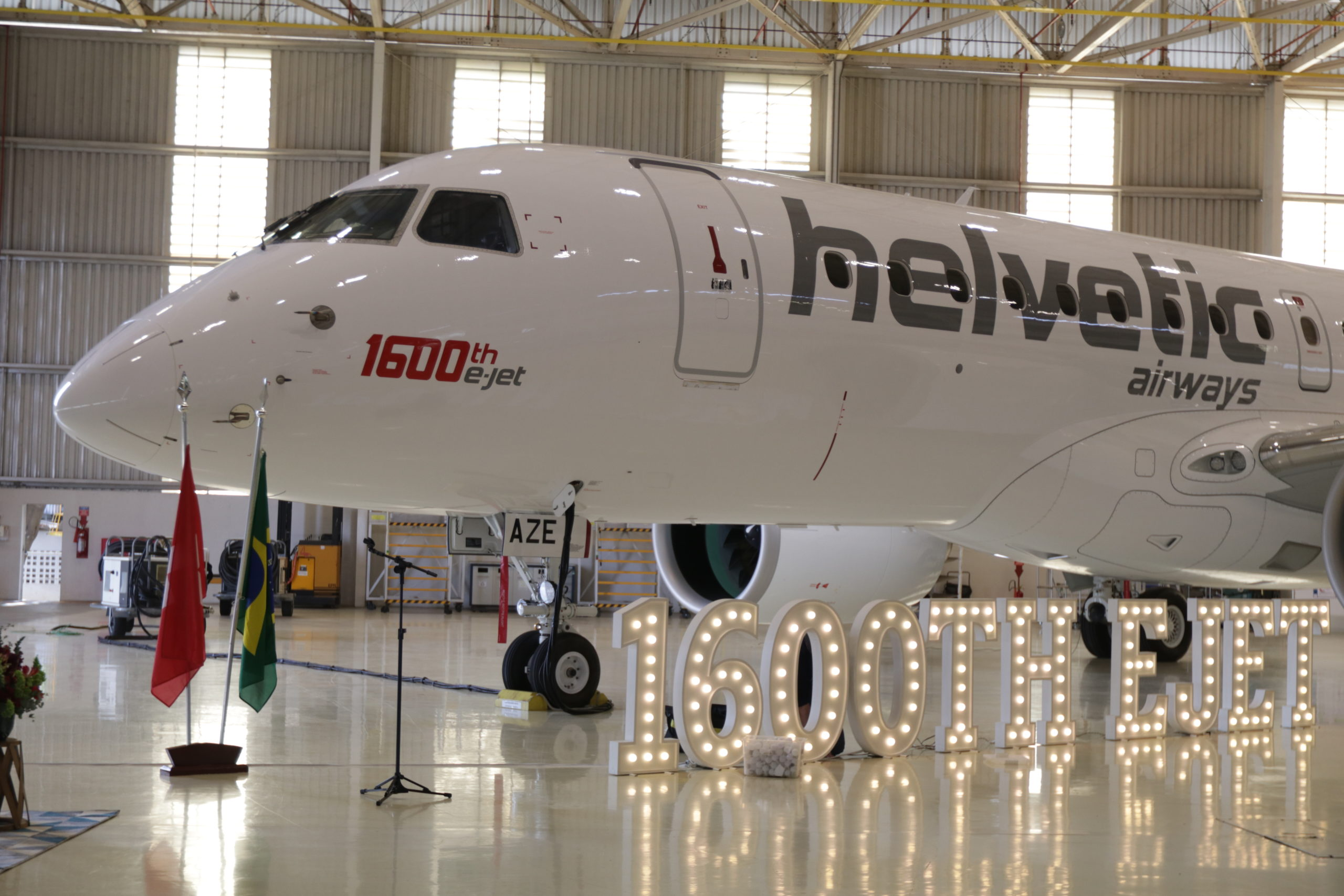 Embraer Celebrates The Delivery Of The 1,600th E-Jet To Helvetica Airways
